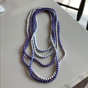 Roberta Roller Rabbit purple wrap necklace